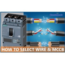 How to select Electric wire and MCCB